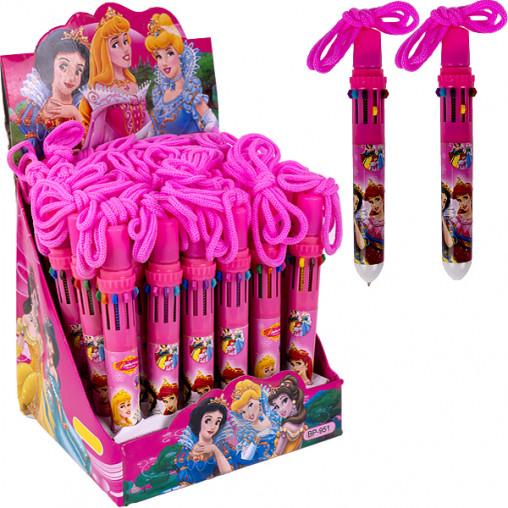 """Ручка детская с канатиком 10 цветов """"Принцессы"""" BP951/BP962"""