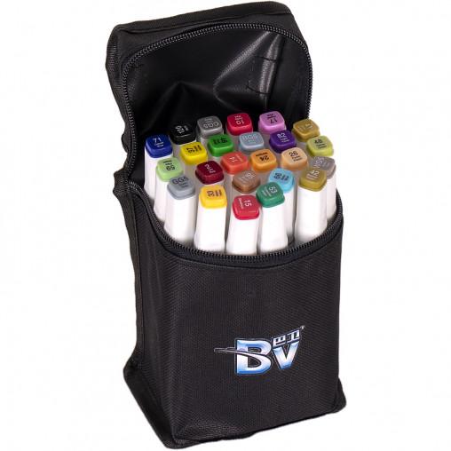 Набор скетч-маркеров 24 цвета BV800-24 в сумке