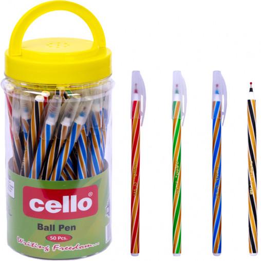 Ручка масляная Cello CL-268PVC  МИКС цветов