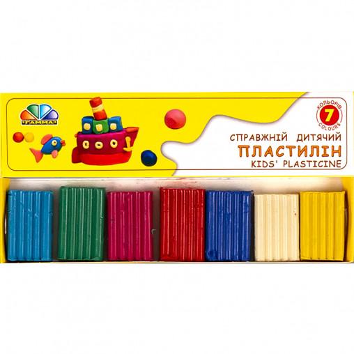 """Пластилин """"Улюблені іграшки"""" 7 цветов, 70 г """"Гамма"""" 331025"""