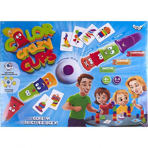 """Настольная развлекательная игра """"Color Crazy Cups"""" РУС CCC-01-01 ДТ-БИ-07-64"""
