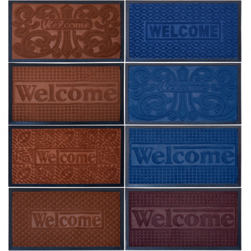 "Коврик резиновый ""Welcome"" 45*75 см X2-164"