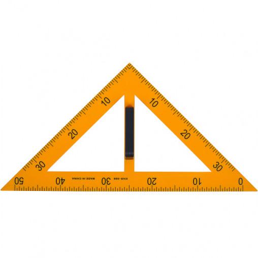 Трегольник равнобедренный пластиковый жёлтый 008 для доски