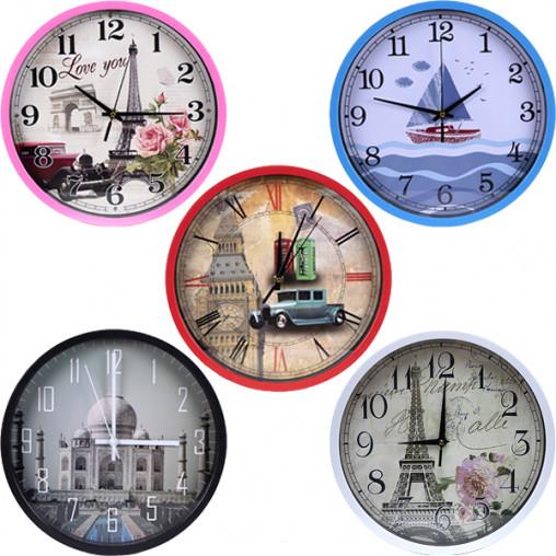 """Настенные часы Х2-40 """"МИКС"""" 29,5*4см"""