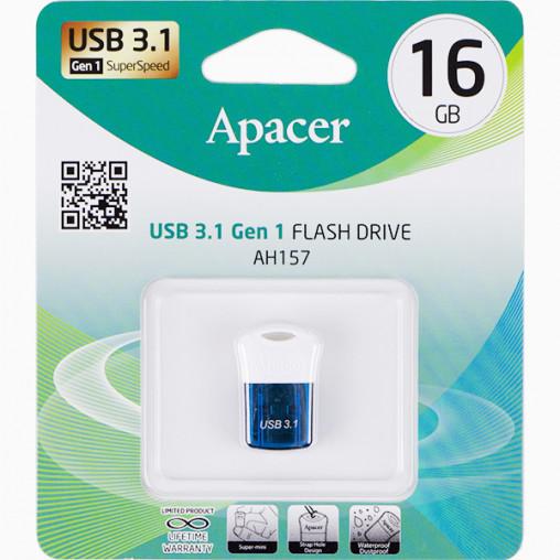Флешка Apacer USB 16Gb AH157 Blue USB 3.0 AP16GAH157U-1 911698/044592