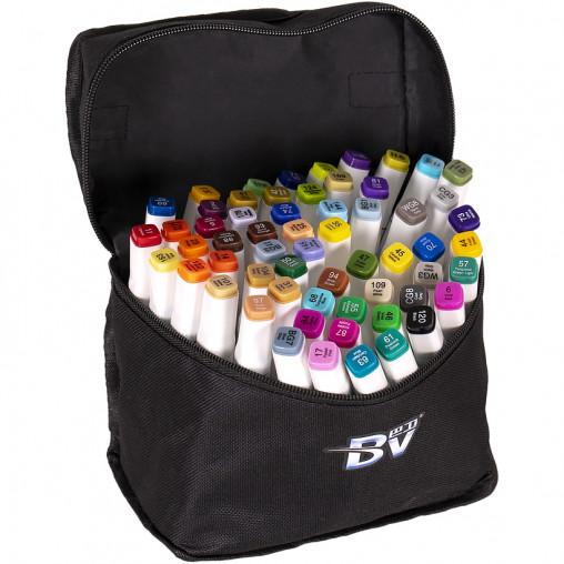 Набор скетч-маркеров 60 цветов BV800-60 в сумке