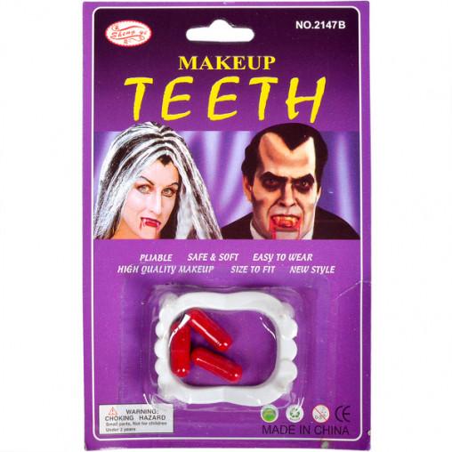 Зубы вампира с кровью 12-25