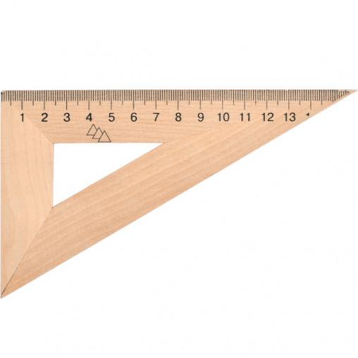 Треугольник 16 см деревянный (30*90*60)TD-1636