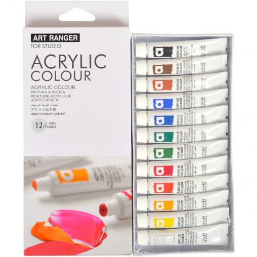 "Краски 12мл ""Art Ranger"" 12 цветов ""Acrylie"" EA1212-3"