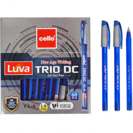 "Ручка масляная ""Trio DC"" Cello CL-8-60 синяя"