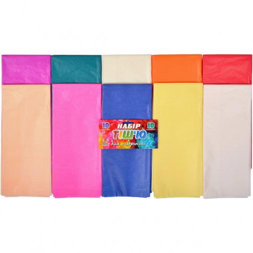 Цветная бумага тишью 10 цветов, 10 листов 120678/Б112