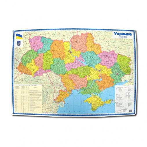 Политическая карта Украины м-б 1:1 500 000 УКР 1384