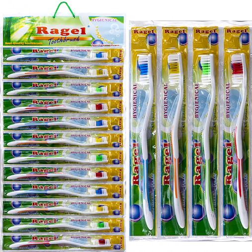 """Зубные щётки """"Ragel"""" 18,3 см на блистере R-619"""