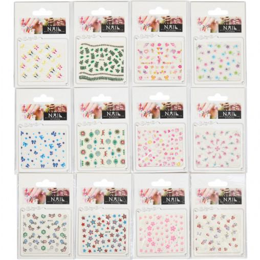 """Наклейки на ногти А7, цветные """"mix"""" 000356"""
