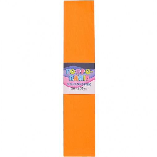 Бумага гофрированная СР-75-18 17г / м2 75%, 50 * 200см, 10шт. / Уп. свет оранжевый КП032/5