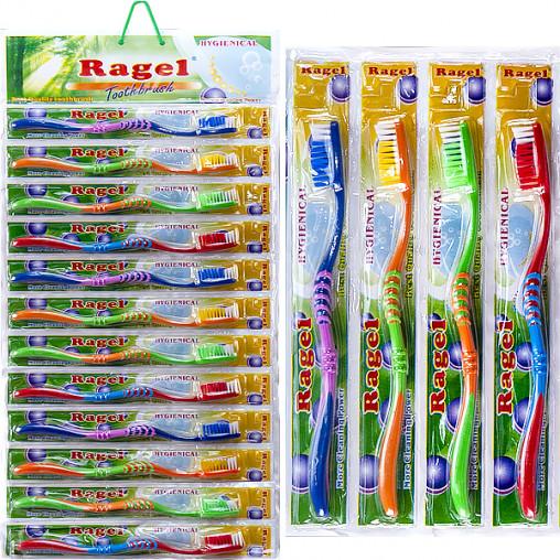 """Зубные щётки """"Ragel Hygienical"""" цв.корпус 18,5 см на блистере R-003"""