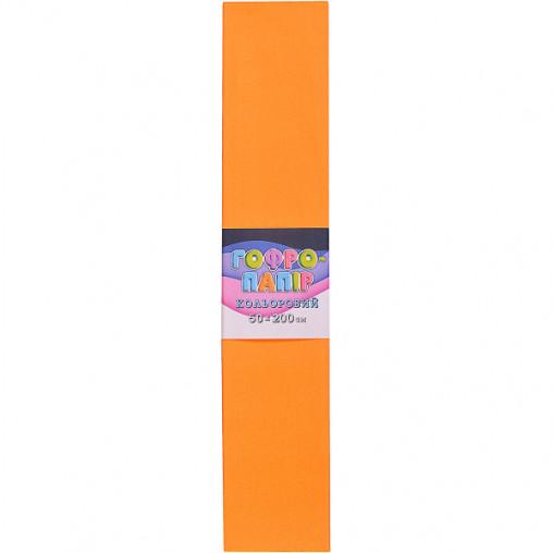 Бумага гофрированная СР-75-707 17г / м2 75%, 50 * 200см, 10шт. / Уп. средний оранжевый КП032/20