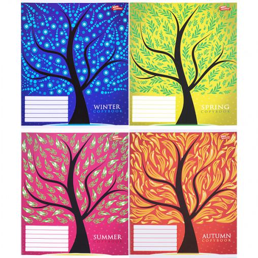 Тетрадь цветная 12 листов, линия 2694л
