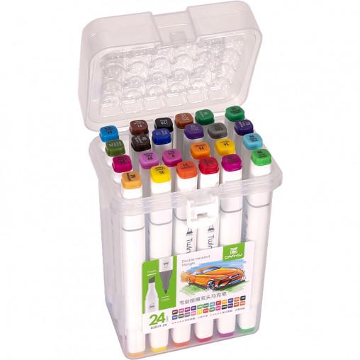 Набор скетч-маркеров 24 цвета 2019-24 в пластиковом боксе