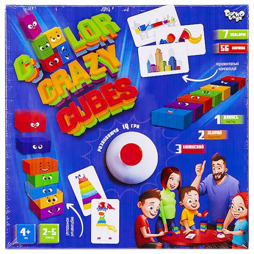 """Развивающая настольная игра """"Color Crazy Cubes"""" укр. CCC-02-01U ДТ-БИ-07-76"""