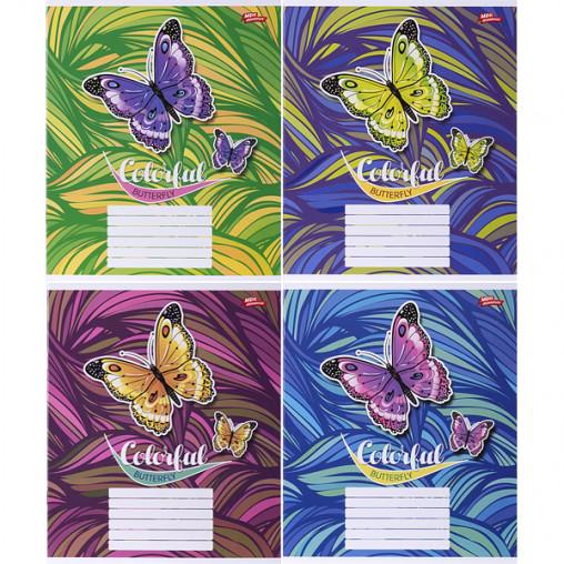 Тетрадь цветная 18 листов, линия 2990л
