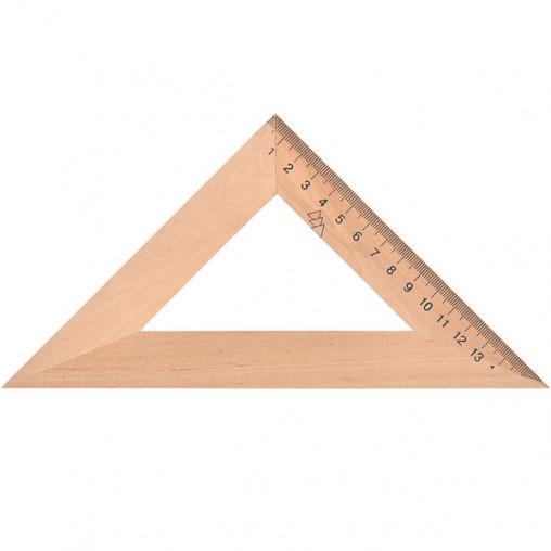 Треугольник 16 см деревянный (45*90*45)TD-1644