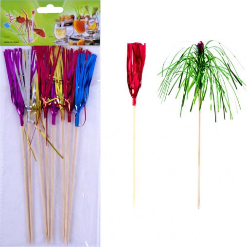 Набор зонтиков коктейльных 10-63 Дождик, 8 штук