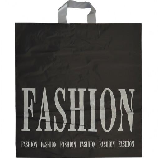 """Пакет ламинированный черно-серый """"FASHION"""""""