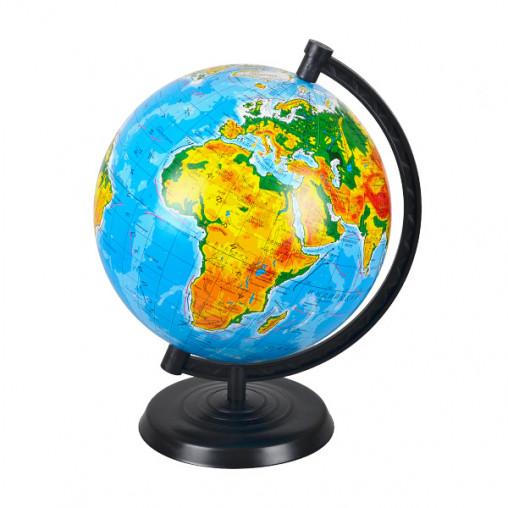Глобус D220 мм русский, географический