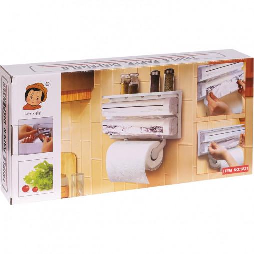 Кухонный диспенсер для бумажных полотенец 3в1 5821