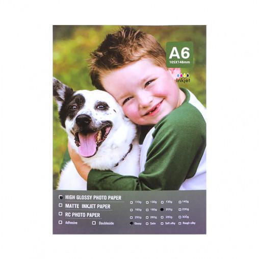 Фотобумага А6 пл. 200г/м², 100 листов, глянцевая 4-193/2