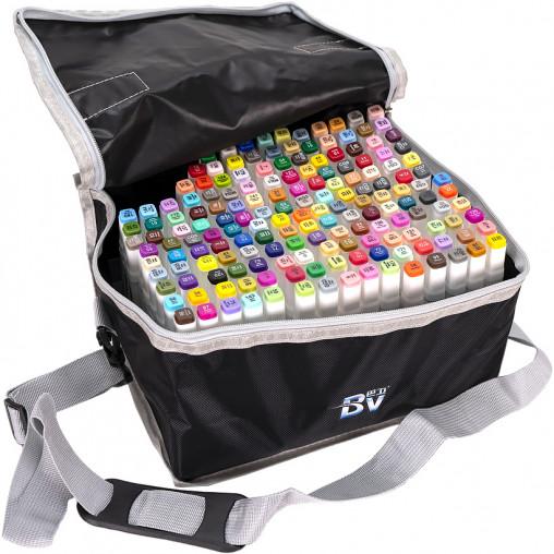 Набор скетч-маркеров 168 цветов BV800-168 в сумке
