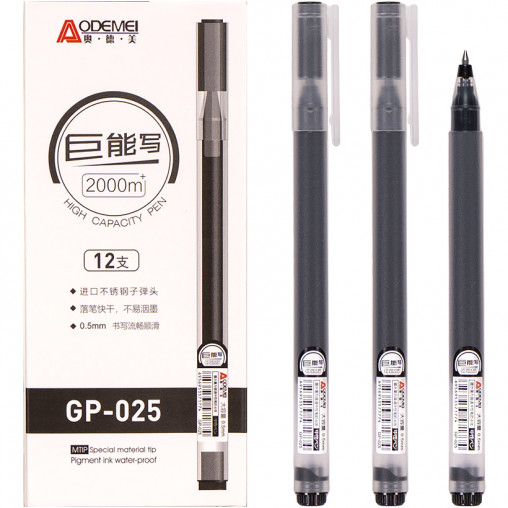 Ручка гелевая GP-025  черная