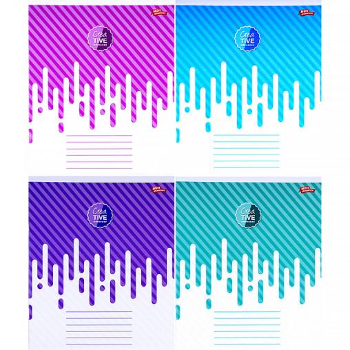 Тетрадь цветная 18 листов, клетка 2985к