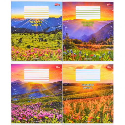 Тетрадь цветная 96 листов, линия 2559л