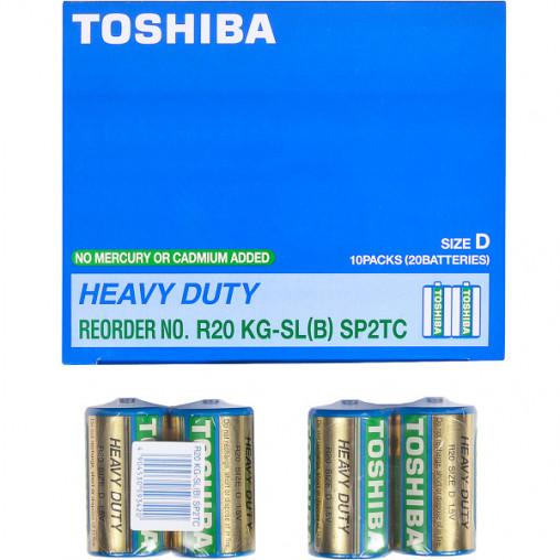 Батарейка Toshiba R20 KG-SL(B) SP2TC T-593420
