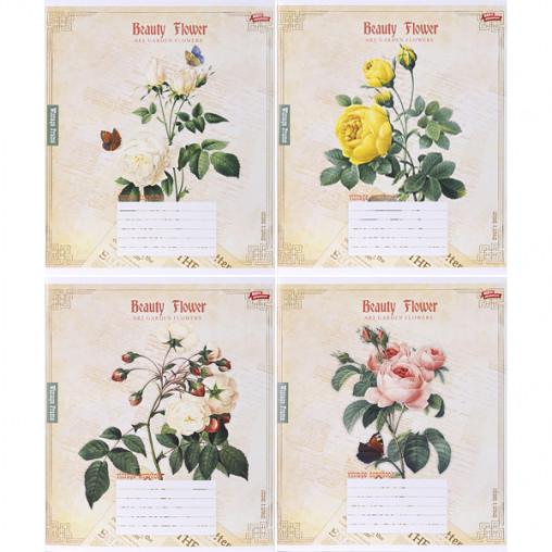 Тетрадь цветная 24 листа, клетка 3095к