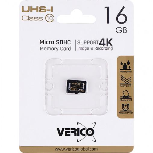 Карта памяти Verico MicroSDHC 16GB UHS-I (CL10) 1MCOV-MDH9G3-NN 600319/044264