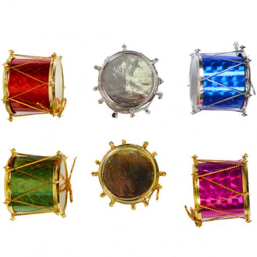 """Набор-украшение """"Барабан"""" цветной 4 см 6шт. 12-132/18F065"""