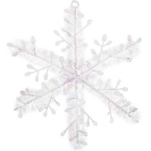 """Украшение """"Снежинка"""" белая 18см 12-152/А24-34"""