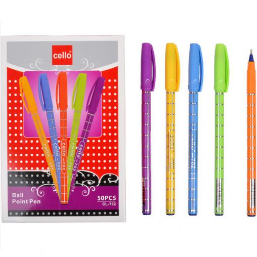 Ручка масляная Cello CL702 синяя