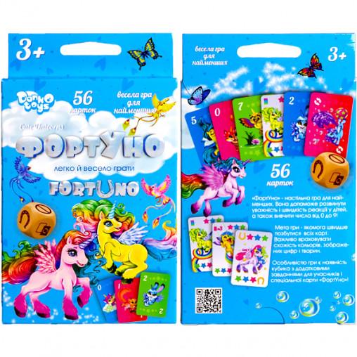 """Настольная игра """"ФортУно Cute Unicorns"""" УКР UF-04-01U ДТ-МН-14-46"""