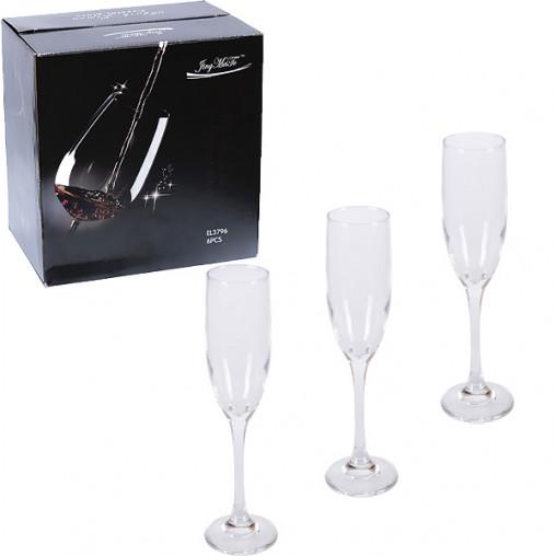Бокал для шампанского стекло 6 шт 170мл EL3796