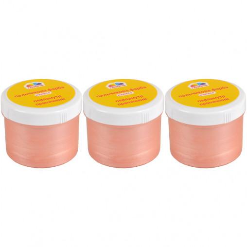 """Краска пальчиковая """"Малята"""" Оранжевая перламутровая 60 мл """"Гамма"""" 101421"""