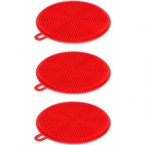 Силиконовая губка для мытья посуды D10,5см X2-193/CK11-116