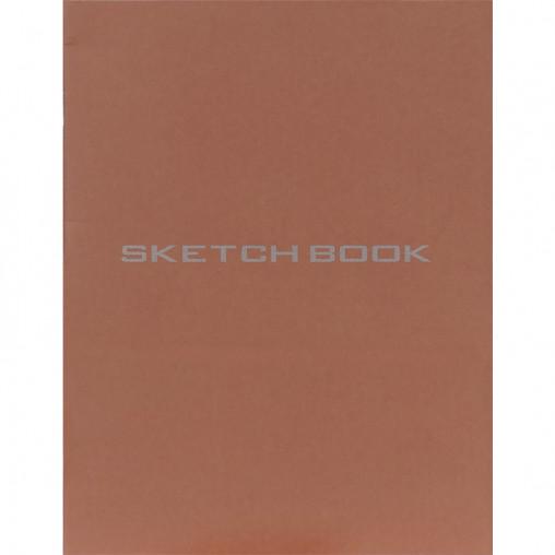 Блокнот для эскизов В5 36л., чистый лист, скоба теракотовый SB5436