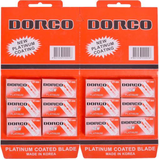 Лезвия DORCO классические двухсторонние Х1-77/ST-300