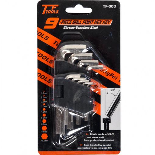 Набор шестигранников 9 штук X4-58/TF-003