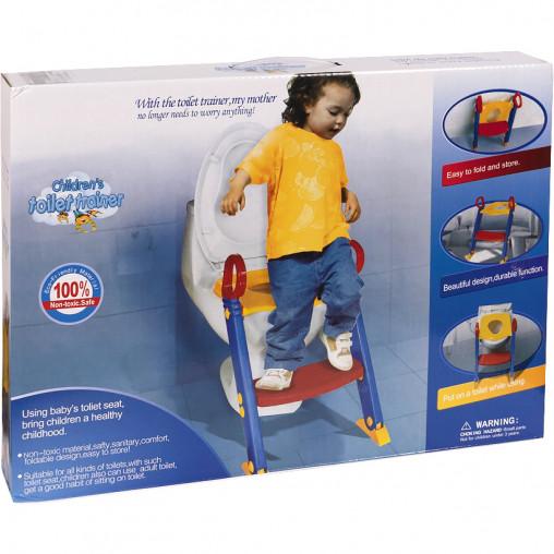 Детское сиденье для унитаза с лесенкой 5356/1060