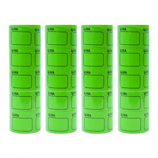 """Ценник средний 2,5х3,5см """"Ціна"""" с рамкой 30/3-306 зеленый 100 шт"""
